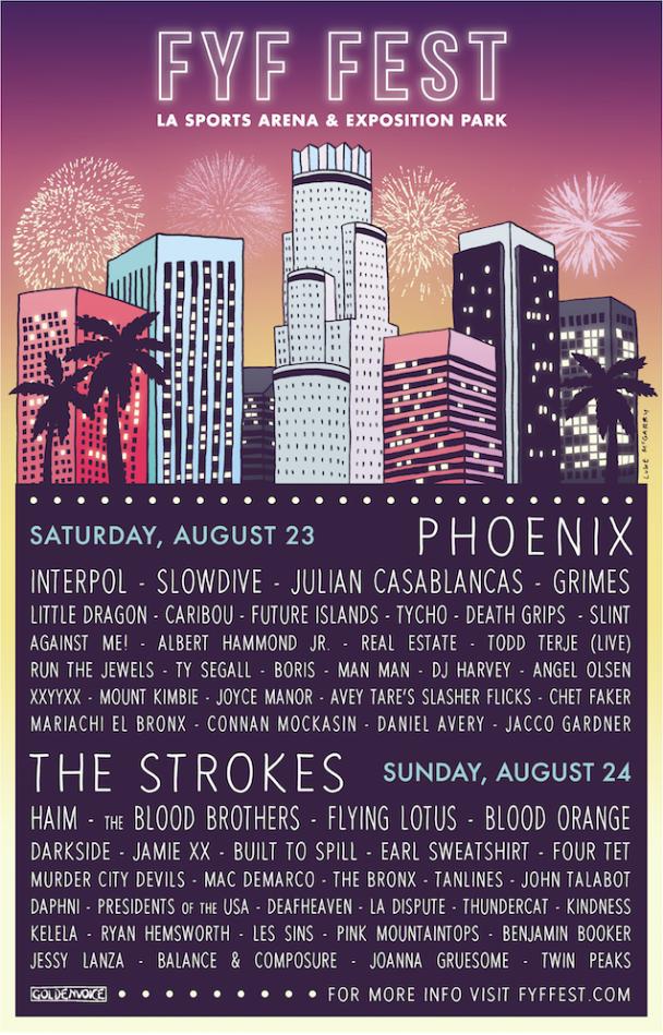 FYF Fest Lineup 2014