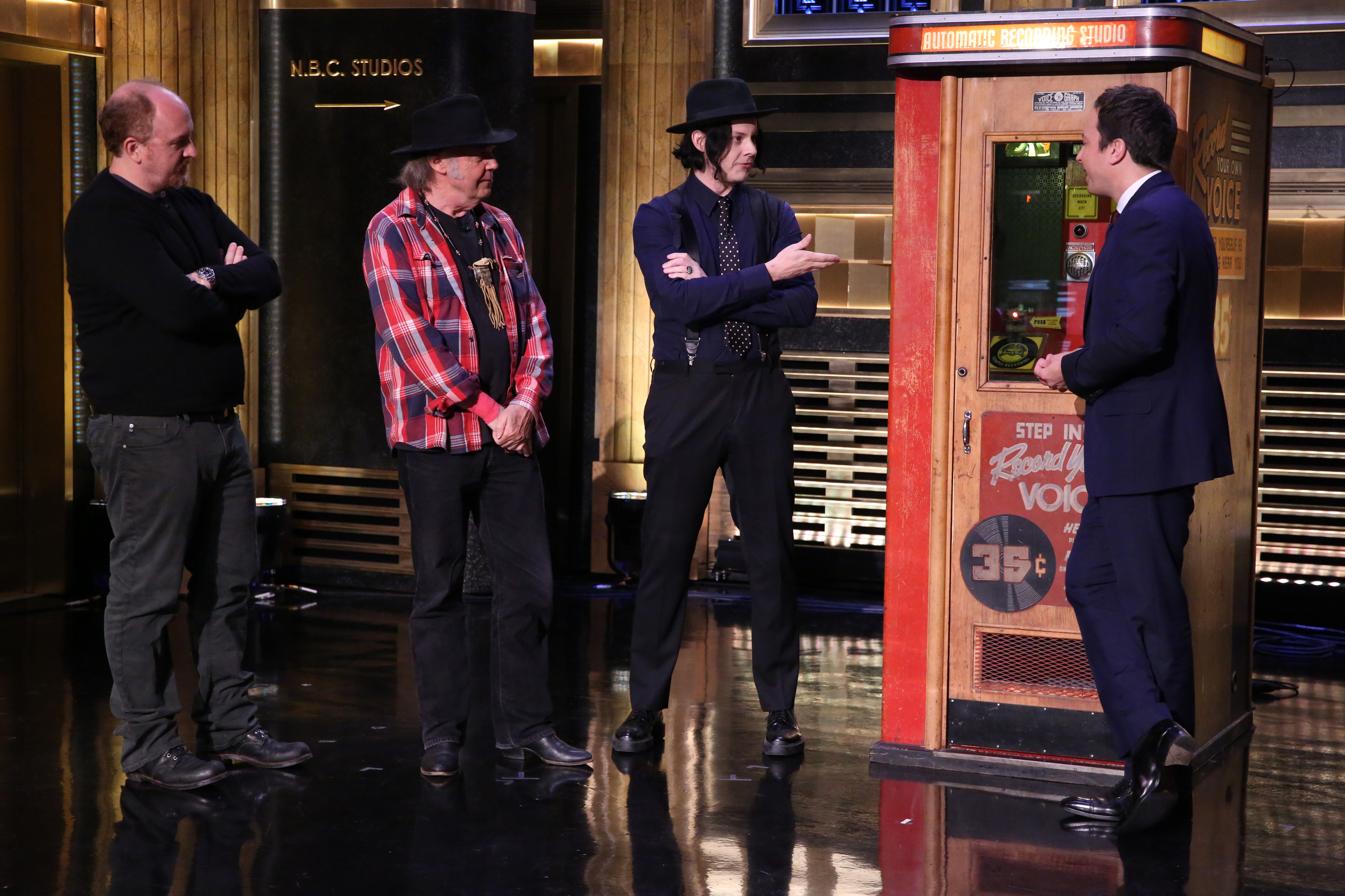 Watch Jack White &#038; Neil Young Cut A Record On <em>The Tonight Show</em>