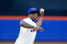 Watch 50 Cent's Horrendous Ceremonial First Pitch For The Mets