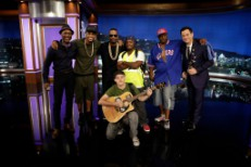 Viral Jam Session Guys Joined By Trey Songz, Juicy J, Aloe Blacc On <em>Jimmy Kimmel</em> Reenactment