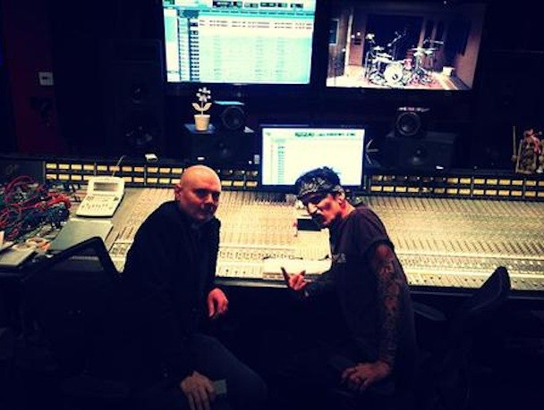 Billy Corgan and Tommy Lee