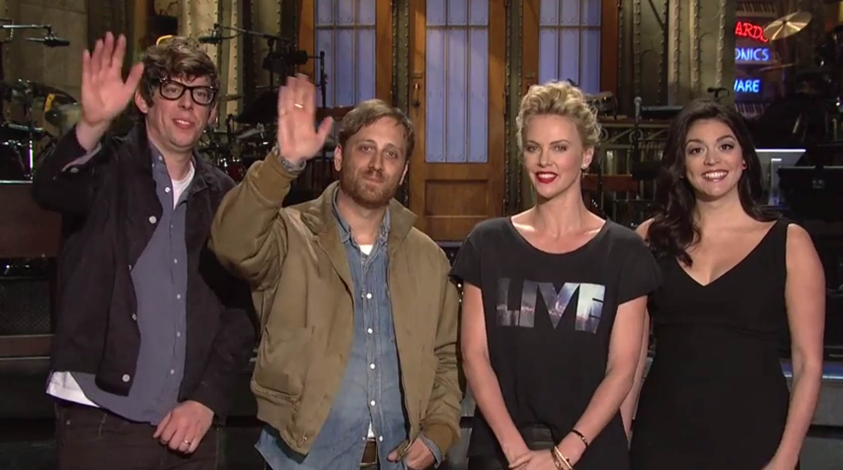 Watch The Black Keys Goof Around With Charlize Theron In Some <em>SNL</em> Promos