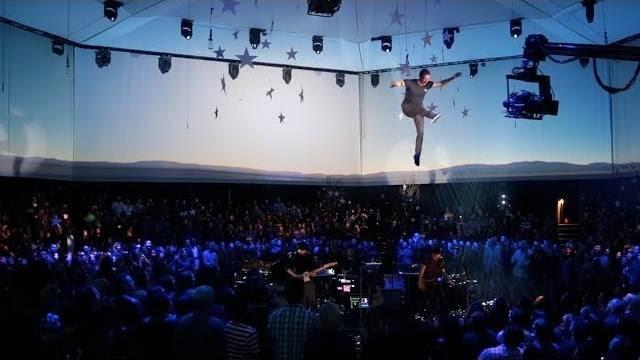 Chris Martin flying