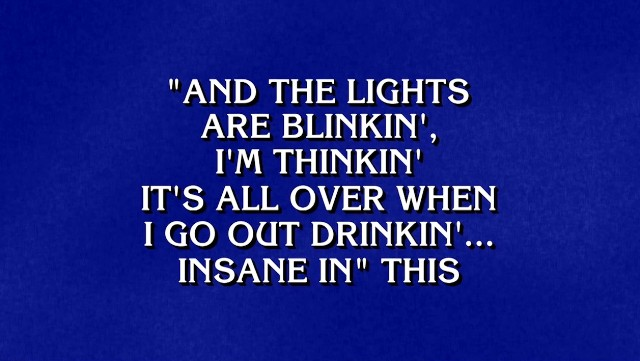 Jeopardy rap