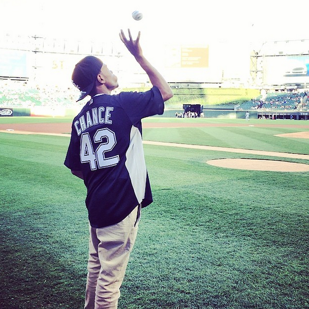 Watch Chance The Rapper Throw Out First Pitch At Last Night's White Sox Game