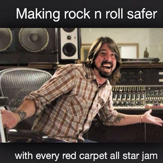 Rock & Roll Made Safer: Foo Fighters Record With Joe Walsh, Dave Grohl Gets An HBO Show