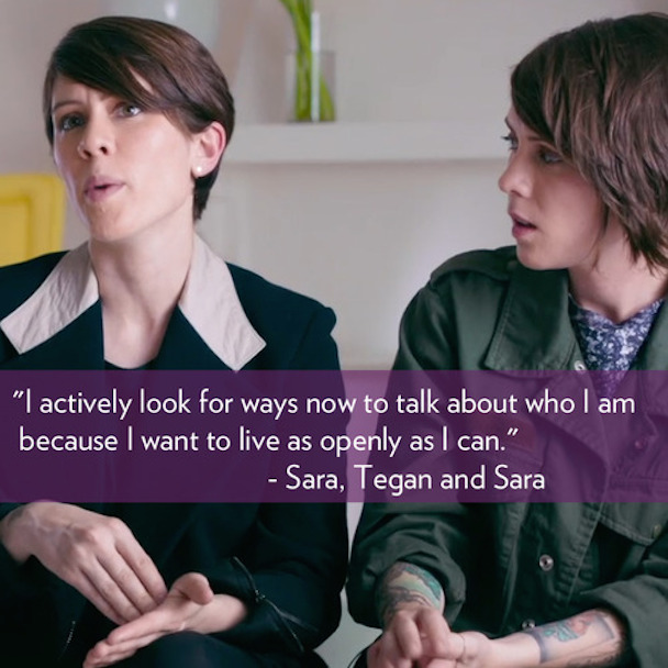 """Watch Tegan And Sara Discuss Growing Up Gay For The """"It Gets Better"""" Project"""