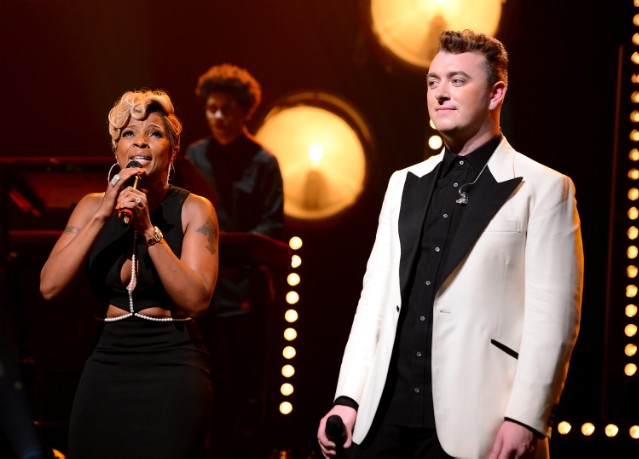 Mary J. Blige Joins Sam Smith At The Apollo