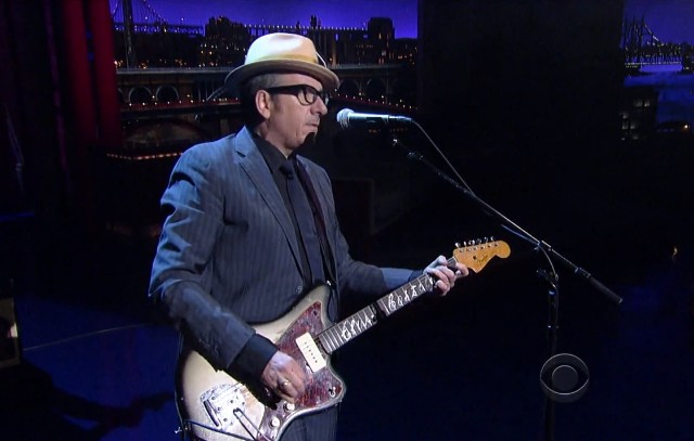 Elvis Costello on Letterman