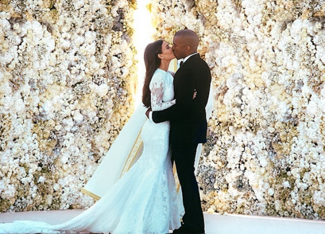 Kanye West wedding photo