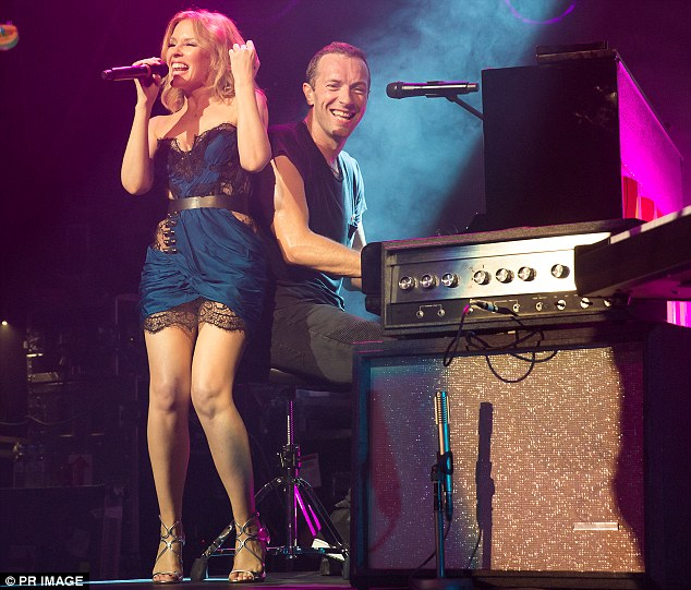 Kylie Minogue and Coldplay