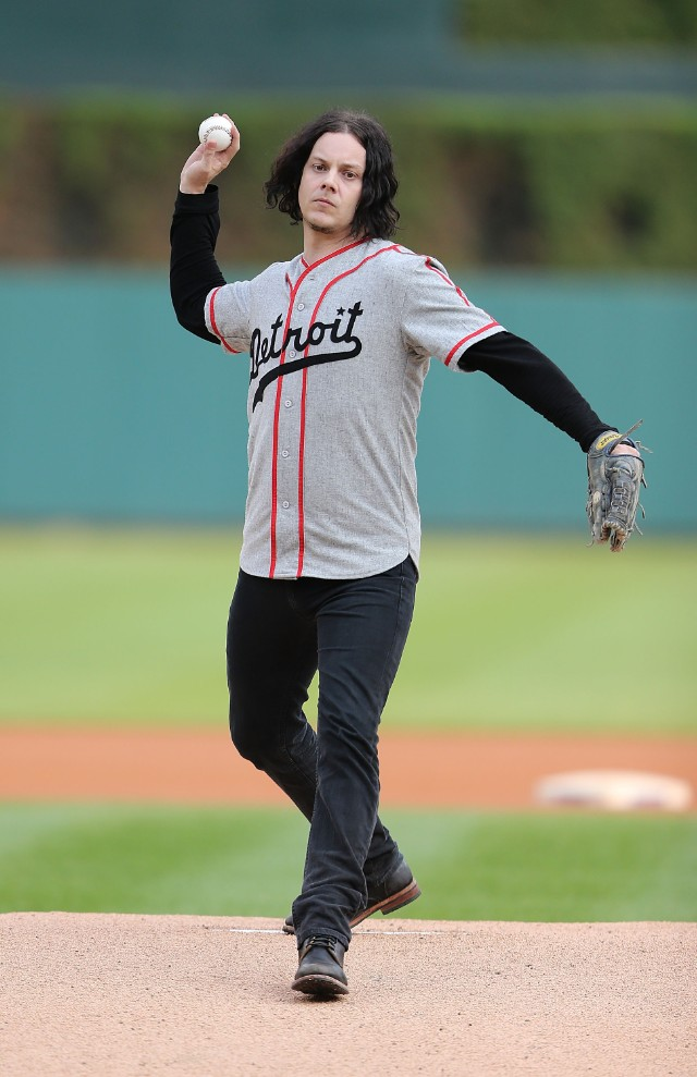 Jack White Ceremonial First Pitch @ Chicago White Sox v Detroit Tigers