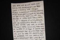Fun Fun Fun Fest Death Grips letter