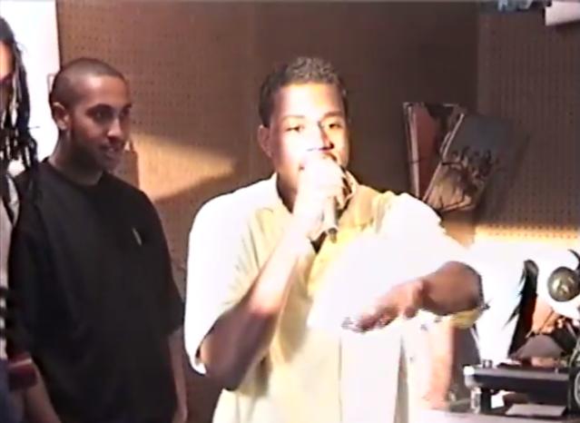 Kanye at Fat Beats