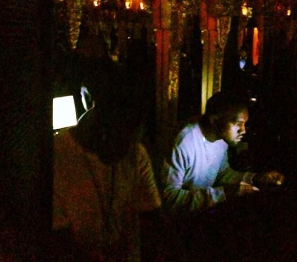 Kanye West DJing