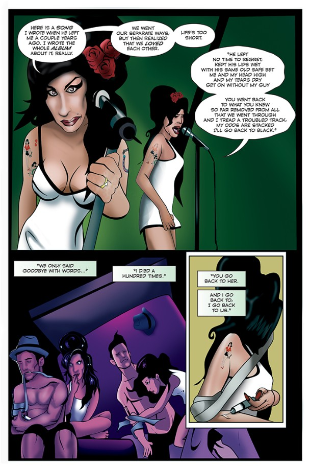 Amy Winehouse comic