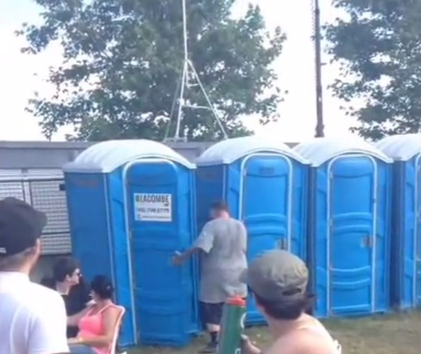 Watch Action Bronson Rap From Inside A Porta Potty Again