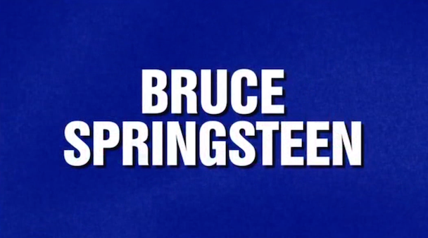 Watch Jeopardy! Devote A Category To Springsteen