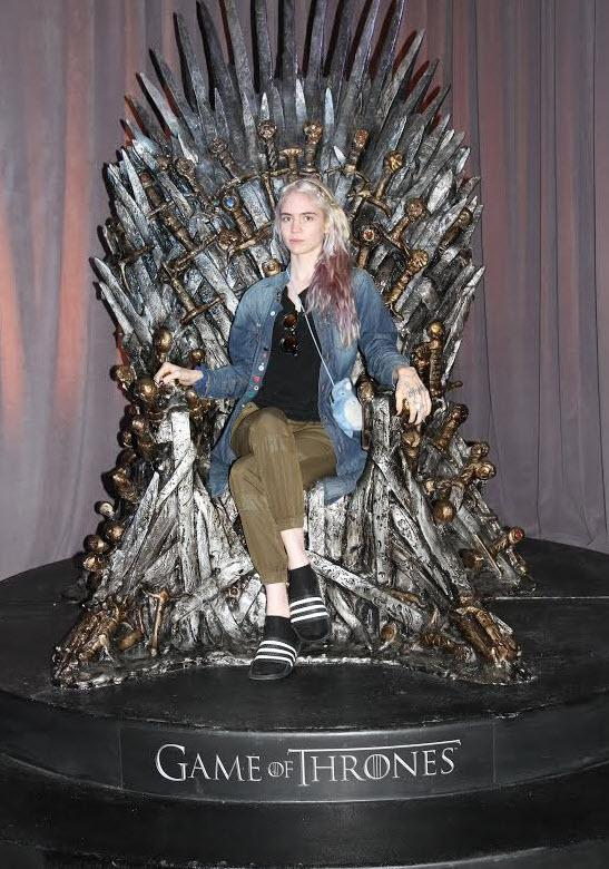 Grimes Realizes <em>Game Of Thrones</em> Life Goals At Comic-Con, Defends Socks With Sandals