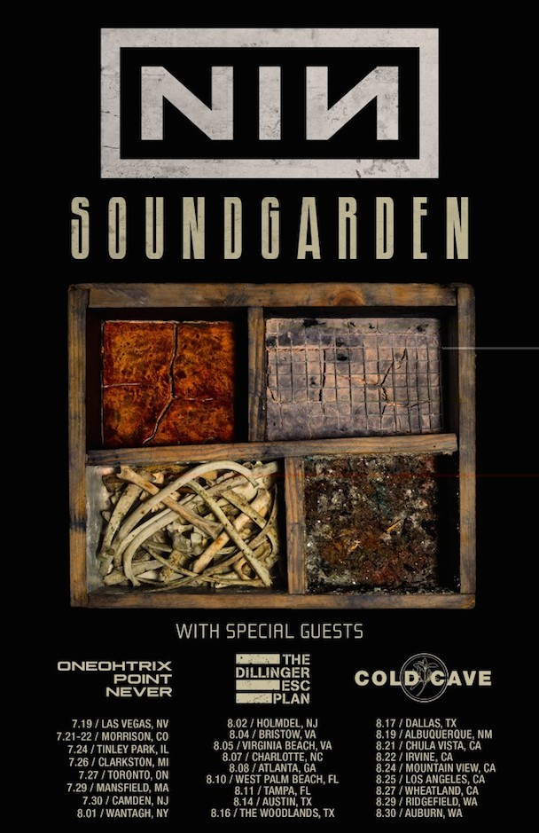 Cold Cave, Dillinger Escape Plan, & Korn Oneohtrix Point Never Replace Death Grips On NIN/Soundgarden Tour