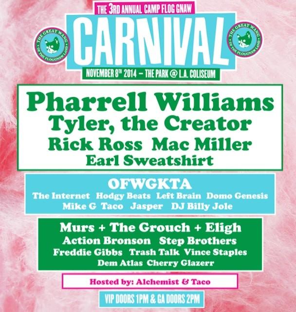 Camp Flog Gnaw 2014 lineup