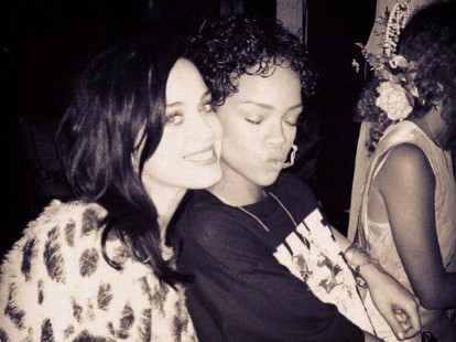 Katy Perry and Rihanna on Instagram