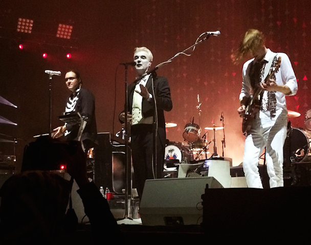 "Watch Arcade Fire Cover Suicide's ""Dream Baby Dream"" With David Byrne In Brooklyn"