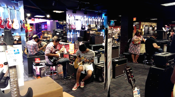 Hell On Earth Discovered In Times Square Guitar Center