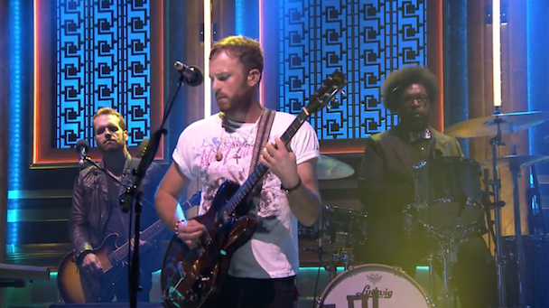 Watch Kings Of Leon Play <em>Fallon</em> With Questlove Filling In For Injured Followill