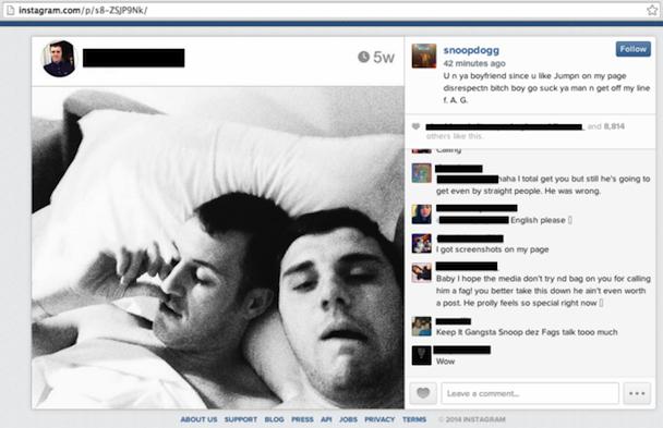 Snoop Dogg homophobic instagram