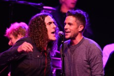 Weird Al Yankovic and Brandon Flowers at George Fest, via Getty