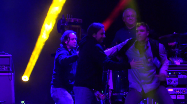 Widespread Panic stage crasher