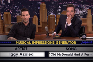 Watch Jimmy Fallon & Adam Levine Play Wheel Of Musical Impressions