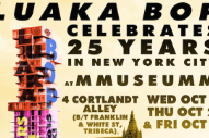 David Byrne's Luaka Bop Holding 25th Anniversary Events In NYC Elevator Museum, Old-School Italian Restaurant, Karaoke Bar