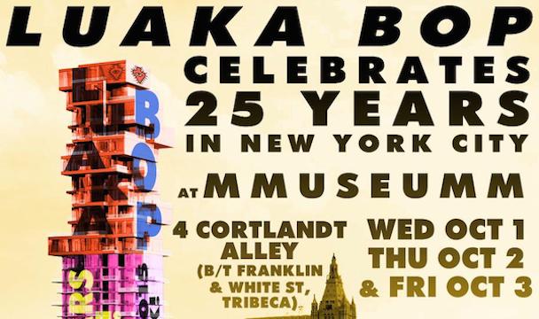 David Byrne's Luaka Bop Holding 25th Anniversary Events In NYC Elevator Museum, Old-School Italian Restaurant, Karaoke Bar