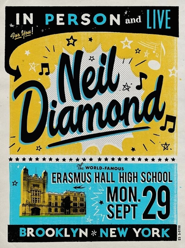 Neil Diamond Brooklyn Poster
