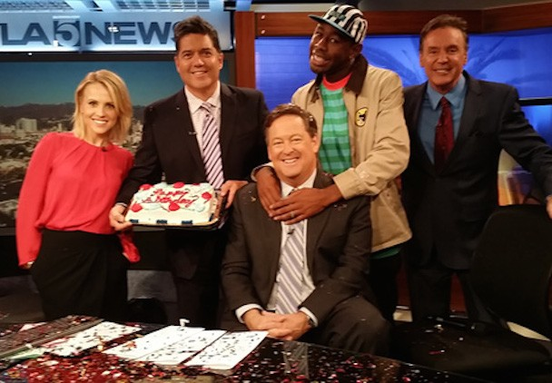 Watch Tyler, The Creator Turn An Unremarkable TV News Interview Into A Surprise Birthday Bash (But It Wasn't Anyone's Birthday)