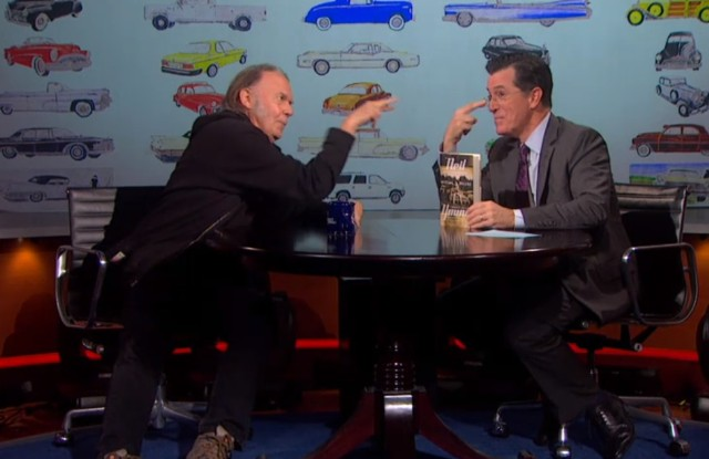 Neil Young on Colbert