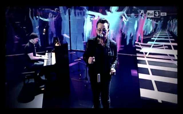 "Watch Bono & The Edge Play ""Every Breaking Wave"" On Italian TV"