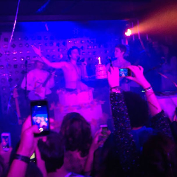 Mac DeMarco Jumped Out Of A Cake And The Audience Got Naked At Baby's All Right's 1st Birthday