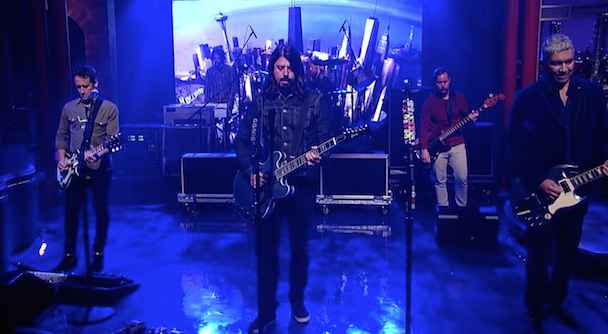 "Watch Foo Fighters Perform ""Something For Nothing"" And Make Their Own Top Ten List On Letterman"