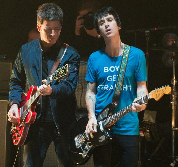 Noel Gallagher And Johnny Marr At The Brixton Academy