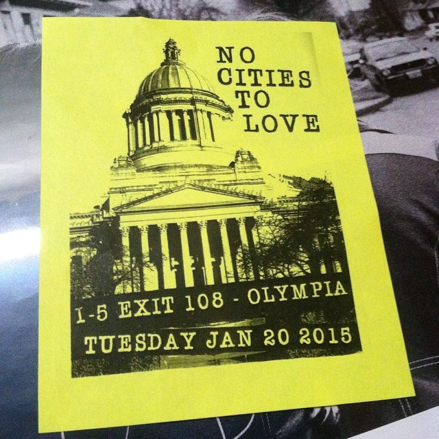 Sleater-Kinney - No Cities To Love Flyer
