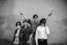 Thurston Moore and his band, 2014