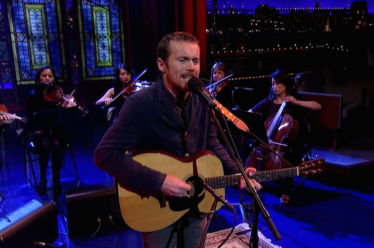 Watch Damien Rice Play <em>Letterman</em> With A Full String Section