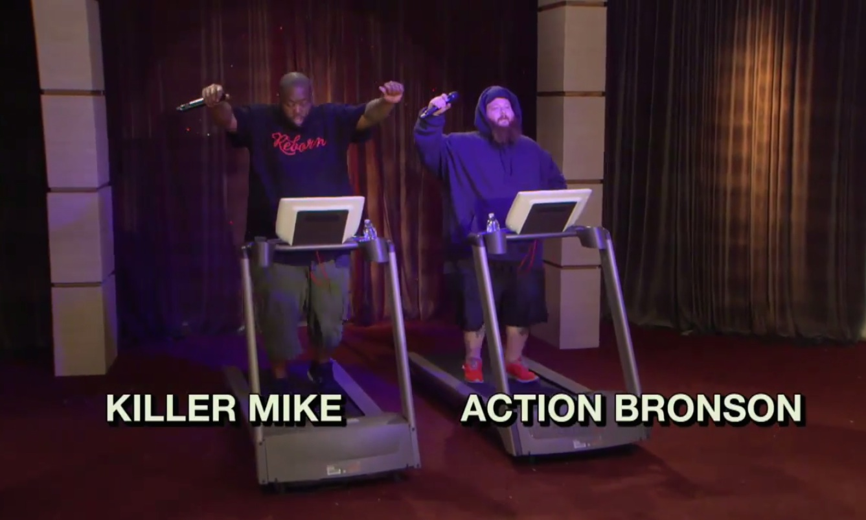 Watch Killer Mike &#038; Action Bronson&#8217;s <em>Eric Andre Show</em> Treadmill Rap Battle