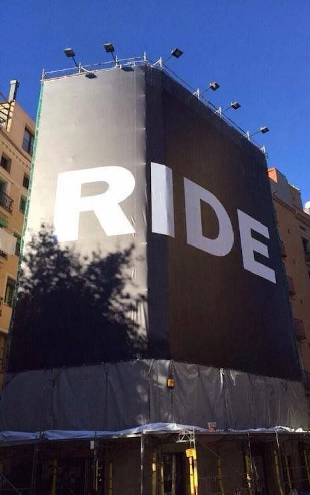 Ride billboard