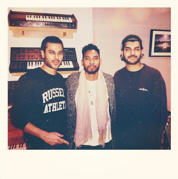 Miguel with Jai Paul & AK Paul