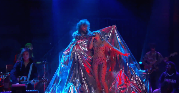 Watch The Flaming Lips And Miley Cyrus Perform The Beatles On Conan