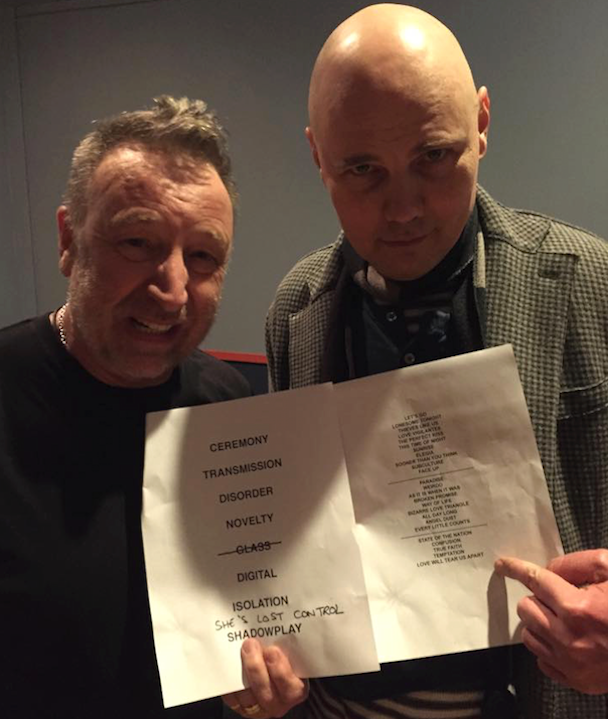 "Watch Billy Corgan Cover ""Love Will Tear Us Apart"" With Joy Division's Peter Hook"